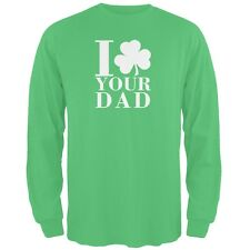 St Patricks Day - Shamrock Love Your Dad Green Adult Long Sleeve T-Shirt