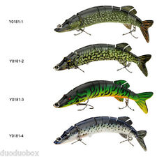 """Top 8"""" Pike Muskie Fishing Bait Swimbait Lure Multi-jointed For Fishing Lovers"""