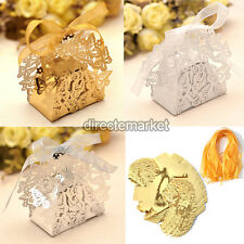 50pcs Butterfly Party Couple Romantic Wedding Favor Candy Gift Boxes With Ribbon