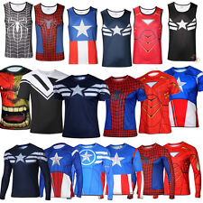 Hommes Superheroes Collections Cycling T-Shirts Vest Tank Top Jersey TEE Costume