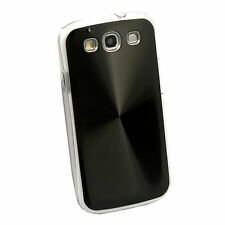 Deluxe Shiny CD Laser Hard Cover For Samsung Galaxy SIII 3 I9300+Stylus BK