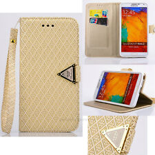Elegant Wrist Band Wallet Flip Leather Magnetic Case Cover For Samsung Galaxy