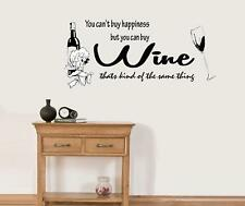 YOU CANT BUY HAPPINESS  WALL QUOTE STICKER ART VINYL DECAL FREE P&P
