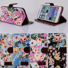 1PC Magnetic Wallet Flip Floral Leather Case For iphone 6 Plus 5.5 Inch Cheap