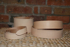 "2.6mm  SUPPLE  NATURAL VEG TAN LEATHER BELT  BLANK STRAP 53"" WITH KEEPER LEATHER"