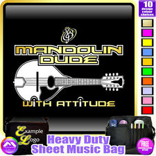 Mandolin Dude With Attitude - Sheet Music & Accessories Bag by MusicaliTee