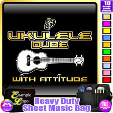 Ukulele Dude With Attitude - Sheet Music & Accessories Custom Bag by MusicaliTee