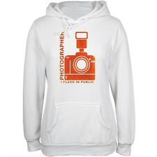 Photographer Flash in Public Funny White Juniors Soft Hoodie
