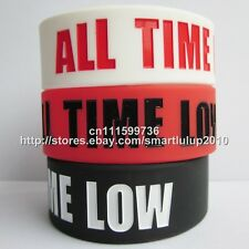 """ALL TIME LOW 1"""" Wide Silicone Rubber Bracelet Wristband"""