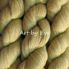 ANNE LACE YARN Silk Baby Alpaca Wool HAND DYED fingering weight 2ply Golden Jade