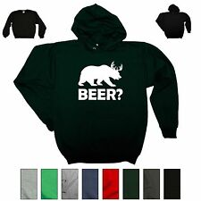 BEER Deer Bear College Alcohol Party Drinking Funny Gift Sweatshirt Cute Hoodie