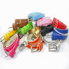 New Women'sThin Pu Leather Candy Color Waist Belts Buckles Adjustable Waistband
