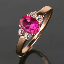 Fashion ruby ring 18k white gold filled new style lady Chin Ruby ring Sz5-Sz9