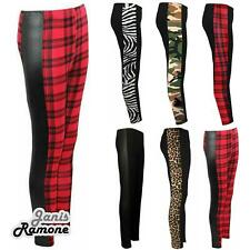 New Womens Ladies Side Printed Skinny Full Length Leggings Jeggings Skinny Pants