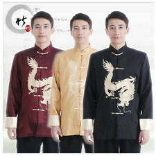Chinese Traditional Style Men's Kung-Fu Embroidery Dragon Jacket Coat M---3XL