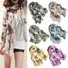 Vogue Women Ladies New Begonia Flower Ink Style Shawl Scarf Long Stole