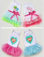 Small girl pet dog pet clothes apparel gauze skirt summer princess bowtie dress