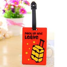 1pc Travel Luggage Scene Rubber Checked Luggage Card Suitcase Hanging Marker Tag