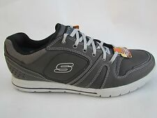 Skechers Men's Relaxed Fit Arcade II Lounging Shoes-Charcoal Gray