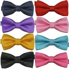 Polka Dots Kids Toddler Boys Girls Bowtie Pre Tied Bow Tie Necktie Multi-Colors