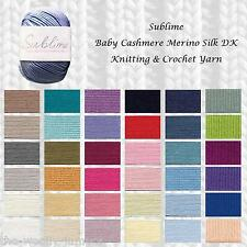 SUBLIME BABY CASHMERE MERINO SILK DK KNITTING YARN - VARIOUS SHADE OPTIONS