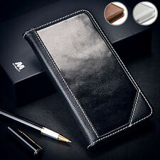 Genuine Leather Real Cow-Hide Flip Wallet Handcrafted Hard Case Cover