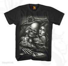 OGABEL OG ABEL CLOTHING IN LOVE W GAME BLK SKULL PUNK INK TATTOO T SHIRT S-4XL