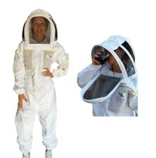 BEEKEEPING SUIT VENTILATED HEAVY DUTY WITH TWO VEILS  LEATHER BEE KEEPING GLOVES