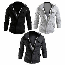 Men Fashion Casual Zip Up Slim Hoodie Coat Jacket Sweatshirt