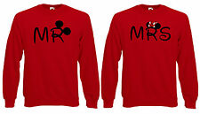Valentines Mr Mrs Cute Couple Disney Mickey Lovers Jumper Sweatshirt Sweat Top