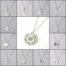 Family Members English Proverbs Love Letter Necklace Simple Pendant Lover Gift