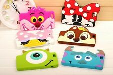 3D Cute Disney Soft Silicone Back Cover Case For iPhone 5 / 5S / 6 / 6 Plus