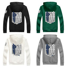 Attack on Titan Shingeki no Kyojin Scouting Legion Cosplay Hoodie Coat Jacket