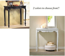 modern carved chic french cottage Shabby distressed Wood Sofa Entry Hall Table