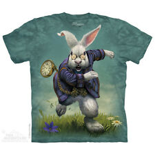 THE MOUNTAIN WHITE RABBIT BUNNY FANTASY ALICE IN WONDERLAND T TEE SHIRT S-5XL
