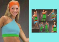 Heat Wave Dance Costume Crop Top Only Jazz Tap Acro Cheer Ice Skate Child,Adult