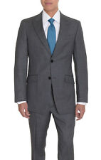 Tommy Hilfiger Trim Fit Gray Textured Two Button Wool Suit
