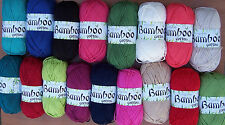 King Cole 100grm Bamboo Cotton Double Knit: 18 Shades Available
