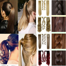 Clip In Ponytail Pony Tail Hair Extensions Wrap Hair Piece Wavy Straight Style U