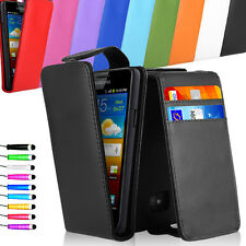 PU Leather Magnetic Vertical Flip Case Cover For Samsung Galaxy S2 I9100 +Stylus