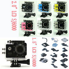 "2.0"" LCD WiFi SJ6000 SJ4000 HD 1080P DVR Action Helmet Sport Cam DV Camera 30M"
