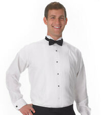 "New White Wing Tip Collar 1/4"" Pleat Tuxedo Shirt Poly/Cotton by Henry Segal"
