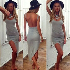 Fashion Sexy Womens Bandage Bodycon Asymmetric Evening Party Cocktail Mini Dress