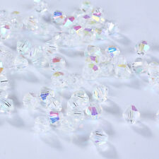 New Fashion DIY jewelry 3mm/4mm Glass Crystal AB #5301 Bicone beads 100/1000pcs