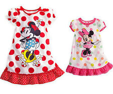 Kids Baby Girls Children Summer Dress Cute Minnie Mickey Mouse Toddler Clothes
