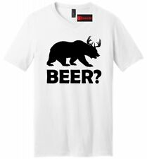 BEER Deer Bear Mens V-Neck T Shirt College Alcohol Party Drinking Funny Gift