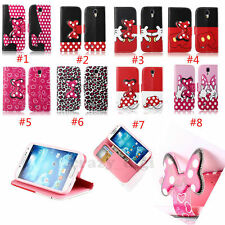 3D Bow Wallet Stand Card holder Magnetic Flip Leather Case For Samsung Galaxy