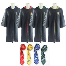 Harry Potter Robe Cape Cloak Gryffindor/Slytherin/Hufflepuff/Ravenclaw With Tie