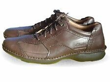 Men's Clarks Lace-Up Casual Active Air Shoes Rush Time Brown Leather