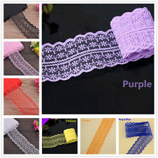 Wholesale 5yards Fabric Embroidered Lace Bilateral Applique Trim Ribbon Sewing